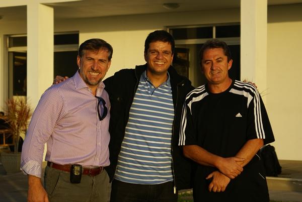 Na foto: Vilson Roncato (esquerda), Rodrigo Pimentel (meio) e Francisco Novelletto (direita)
