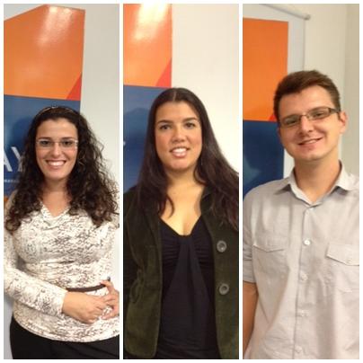 Raquel, Mariana e Renan