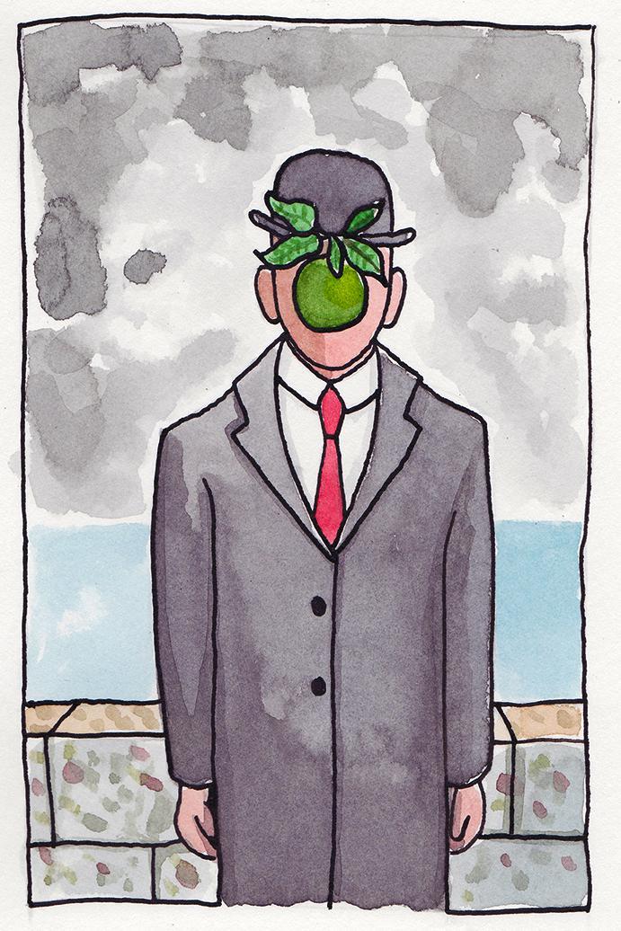 """""""O Filho do Homem"""", de Magritte"""