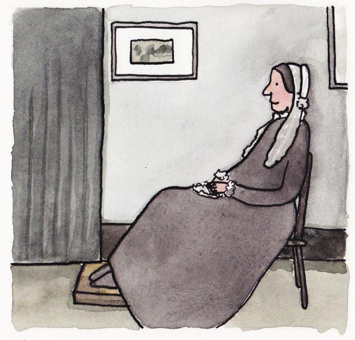 """""""Mãe de Whistler"""", de James McNeill Whistler"""