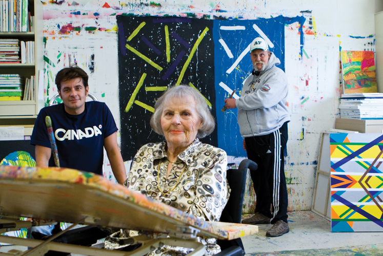 Artists at Sherbrook Community Center.